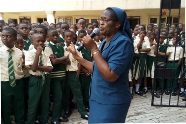 640-Sr Bibiana Emenaha Daughters Charity rural school Edo trafficking-Courtesy CommitteeSupportDignity Women