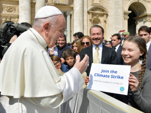 Pope Francis and Greta