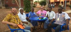 The Talitha Kum Burkina team with Sr. Gabriella Botelli, Talitha international coordinator.