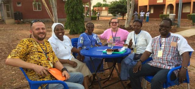 The Talitha Kum Burkina team with Sr. Gabriella Botelli, Talitha Kum international coordinator.