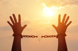 Breaking the chains.